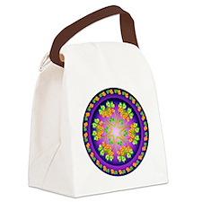 SPRING FLOWER. Canvas Lunch Bag