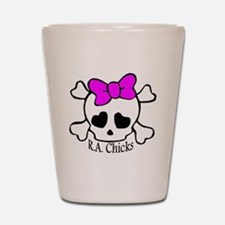 RA Chicks Cute Skull Shot Glass