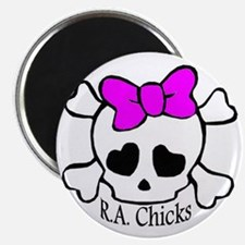 RA Chicks Cute Skull Magnet