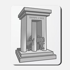 3-prong-columns-T Mousepad