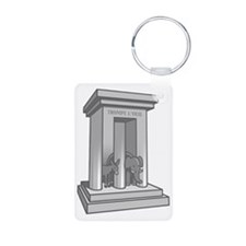 3-prong-columns-T Keychains