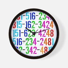 Phone Numbers Wall Clock