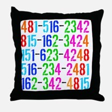 Phone Numbers Throw Pillow