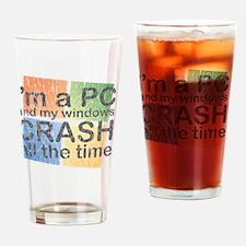 PCcrash Drinking Glass