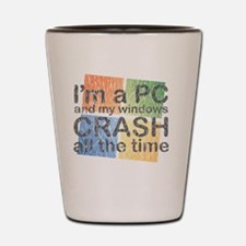 PCcrash Shot Glass
