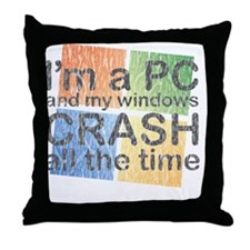 PCcrash Throw Pillow