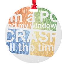 PCcrashDrk Ornament