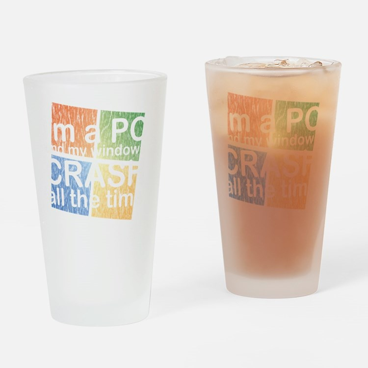 PCcrashDrk Drinking Glass
