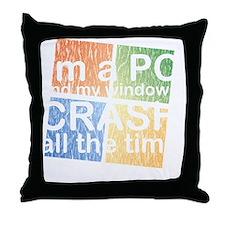 PCcrashDrk Throw Pillow