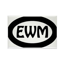 EWM Oval Sticker Rectangle Magnet