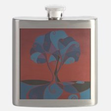 Enveloped with Red11x14tshirt Flask