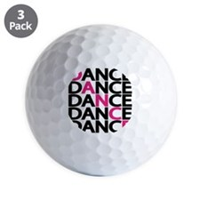 dance-times-five-2-color Golf Ball