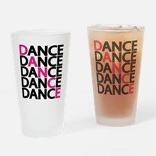 dance-times-five-2-color Drinking Glass