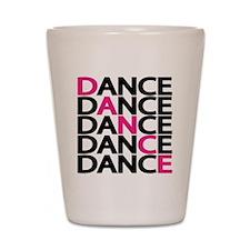 dance-times-five-2-color Shot Glass