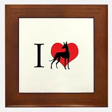 I Love Podencos Framed Tile