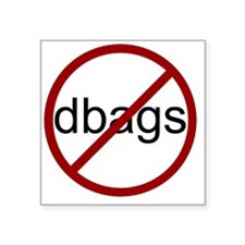 "no-dbags Square Sticker 3"" x 3"""