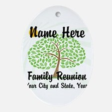 Customizable Family Reunion Tree Ornament (Oval)