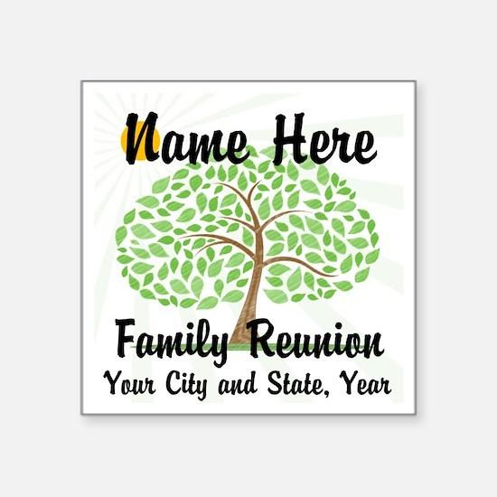 Customizable Family Reunion Tree Sticker