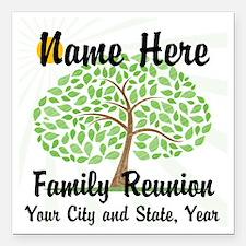 Customizable Family Reunion Tree Square Car Magnet