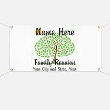 Customizable Family Reunion Tree Banner