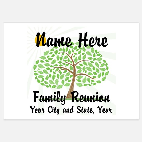 Customizable Family Reunion Tree Invitations