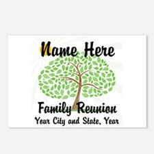 Customizable Family Reunion Tree Postcards (Packag