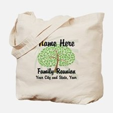 Customizable Family Reunion Tree Tote Bag