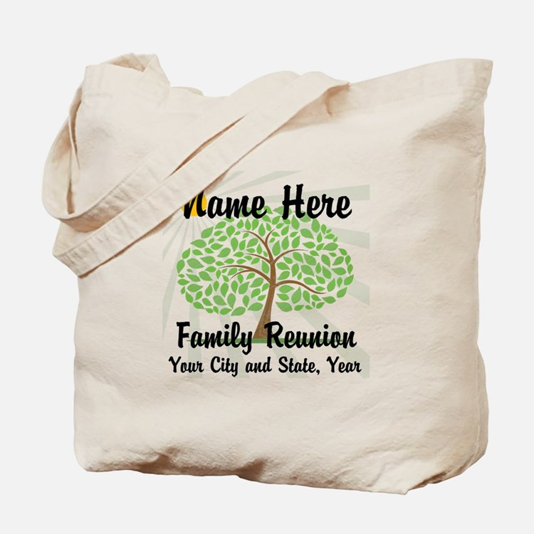 Customizable Family Reunion Tree Tote Bag