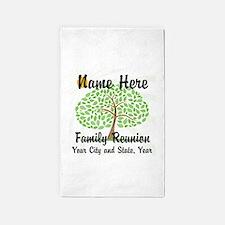 Customizable Family Reunion Tree 3'x5' Area Rug