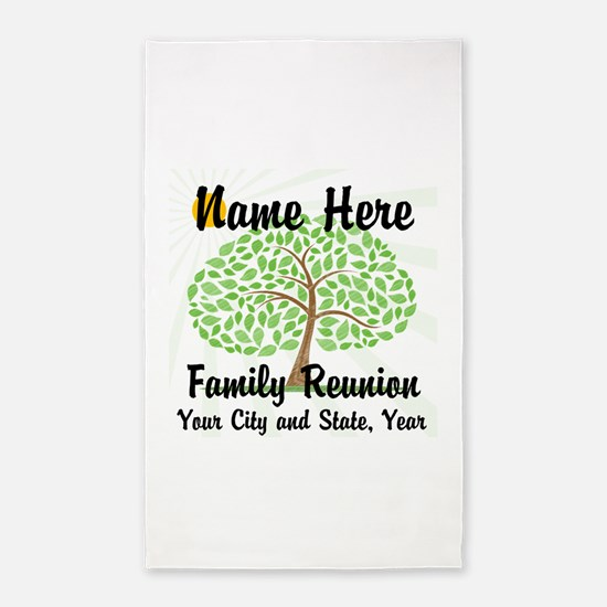 Customizable Family Reunion Tree 3'x5' Area Rug