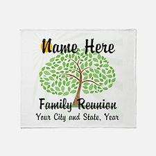 Customizable Family Reunion Tree Throw Blanket