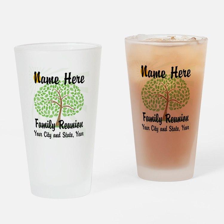 Customizable Family Reunion Tree Drinking Glass