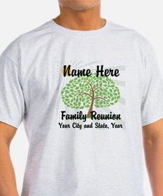 Customizable Family Reunion Tree T-Shirt