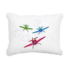 airplane trio boys Rectangular Canvas Pillow