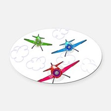 airplane trio boys Oval Car Magnet