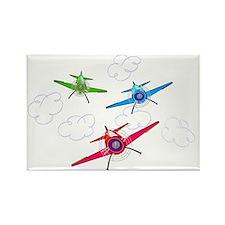 airplane trio boys Rectangle Magnet