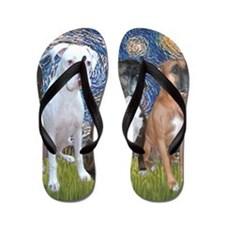 T-Starry Night - 3 Boxers Flip Flops
