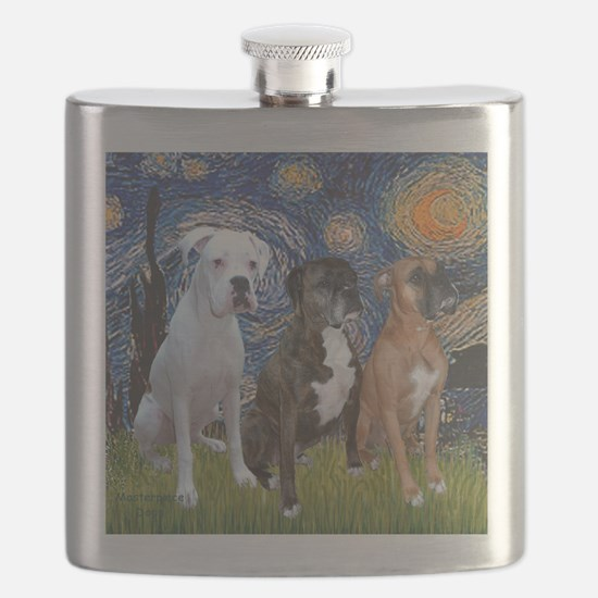 T-Starry Night - 3 Boxers Flask