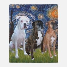 T-Starry Night - 3 Boxers Throw Blanket