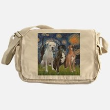T-Starry Night - 3 Boxers Messenger Bag