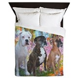 Boxer dog Queen Duvet Covers