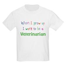 When I Grow Up Veterinarian Kids T-Shirt