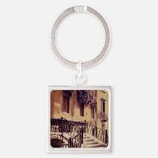 2-ITALIAN STAIRS TALL Square Keychain
