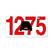 mini -1275 Aluminum License Plate
