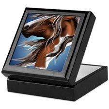 Paint Horse Face PosterP Keepsake Box