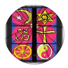 stained glass Round Car Magnet