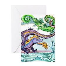 cartoon dragon Greeting Card