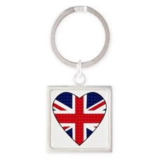 Hearts_Union_Jack Square Keychain