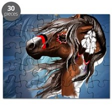Paint Horse and Feathers-Yardsign Puzzle