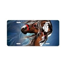 Paint Horse and Feathers-Ya Aluminum License Plate